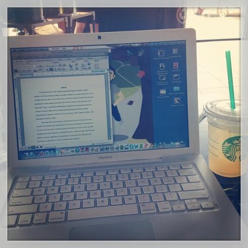 Always working, always with Starbucks next to me