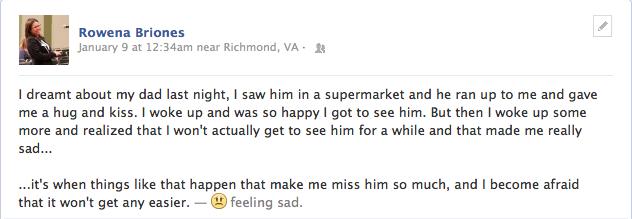 Sad FB Status